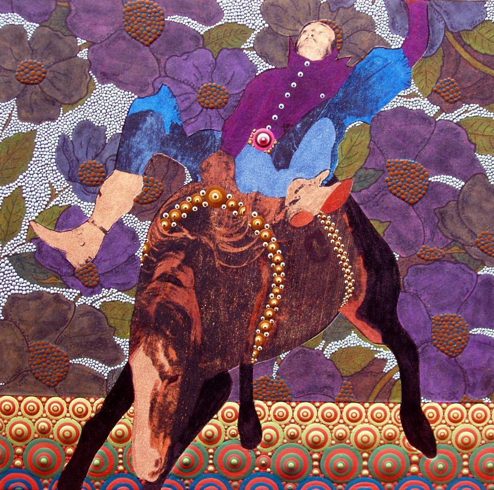 Casey Vogt, HOLD ON #6 House Paint, Collage, Resin on Panel