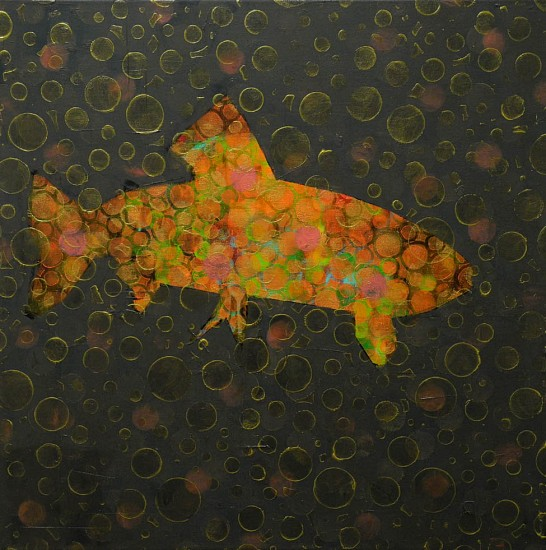 Les Thomas, Trout Painting # 016-1369 2016, Oil on Canvas