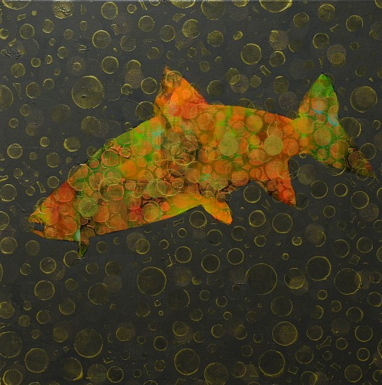 Les Thomas, Trout Painting # 016-1370 2016, Oil on Canvas