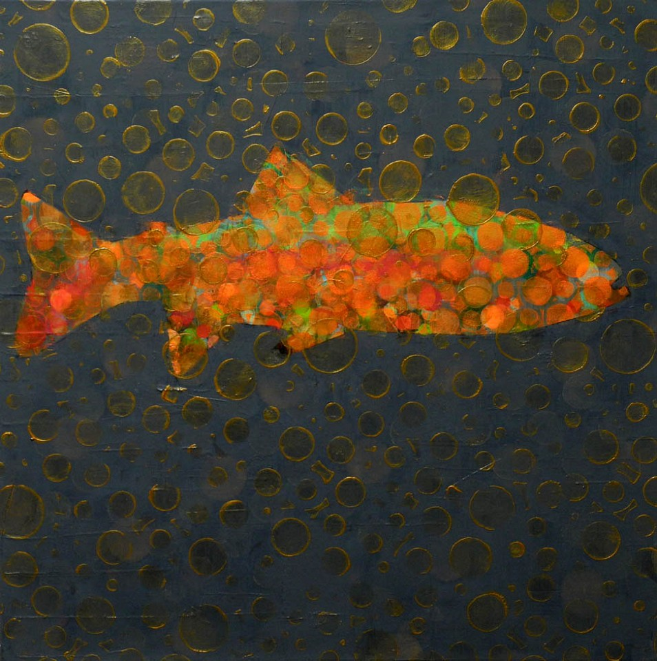 Les Thomas, Trout Painting # 016-1372 2016, Oil on Canvas