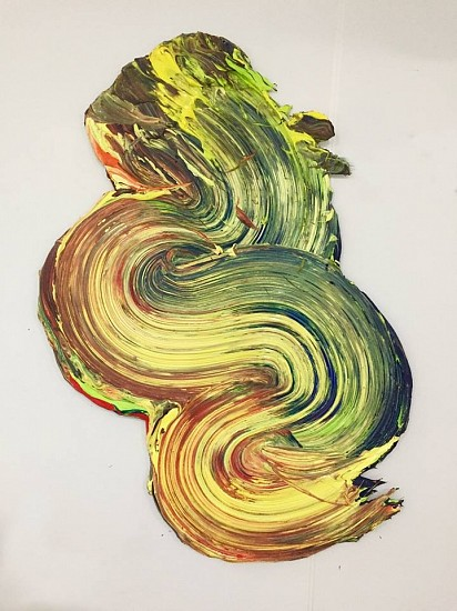Donald Martiny, Po 2017, Polymer and Pigment Mounted on Aluminum