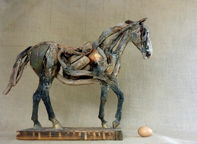 Heather Jansch, Cariad 2017, Driftwood, Bronze, and Resin