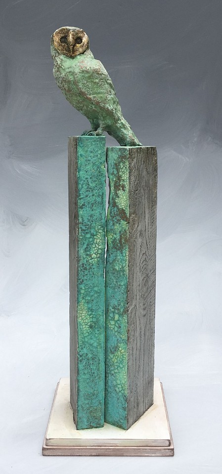Chris Reilly, Patina Owl wood & mixed media